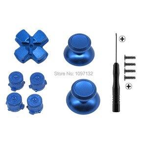 Image 5 - PS4 الإبهام قبضة معدنية الإبهام قبضة الألومنيوم استبدال ABXY رصاصة أزرار Thumbsticks كروم D الوسادة لسوني بلاي ستيشن 4