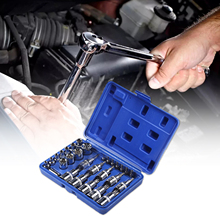 29PC 1/4 3/8 1/2 Torx Star Socket Bit Set Tool Female Male Torx E&T Sockets Kit Case Mechanics Enginner Wrench Car Repair Tools