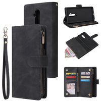 Magnetic Zipper Wallet Case For Oneplus 7T 7T Pro Flip Leather Case For Oneplus 7 7 Pro Phone Bag Pouch With Strap|Wallet Cases| |  -