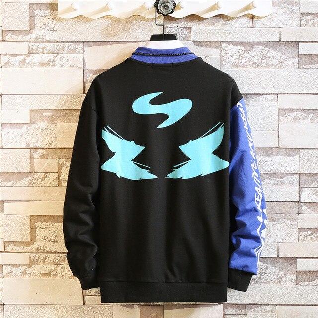 2020 nuevo 6 colores sudadera Hip Hop para hombre otoño carta impresa sudaderas con capucha de los hombres extraño Streetwear con capucha Casual de talla grande 3XL 4