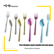 Backpacking Spoon Spork Camping-Fork Flatware Tito Titanium Travel Longhandle Outdoor