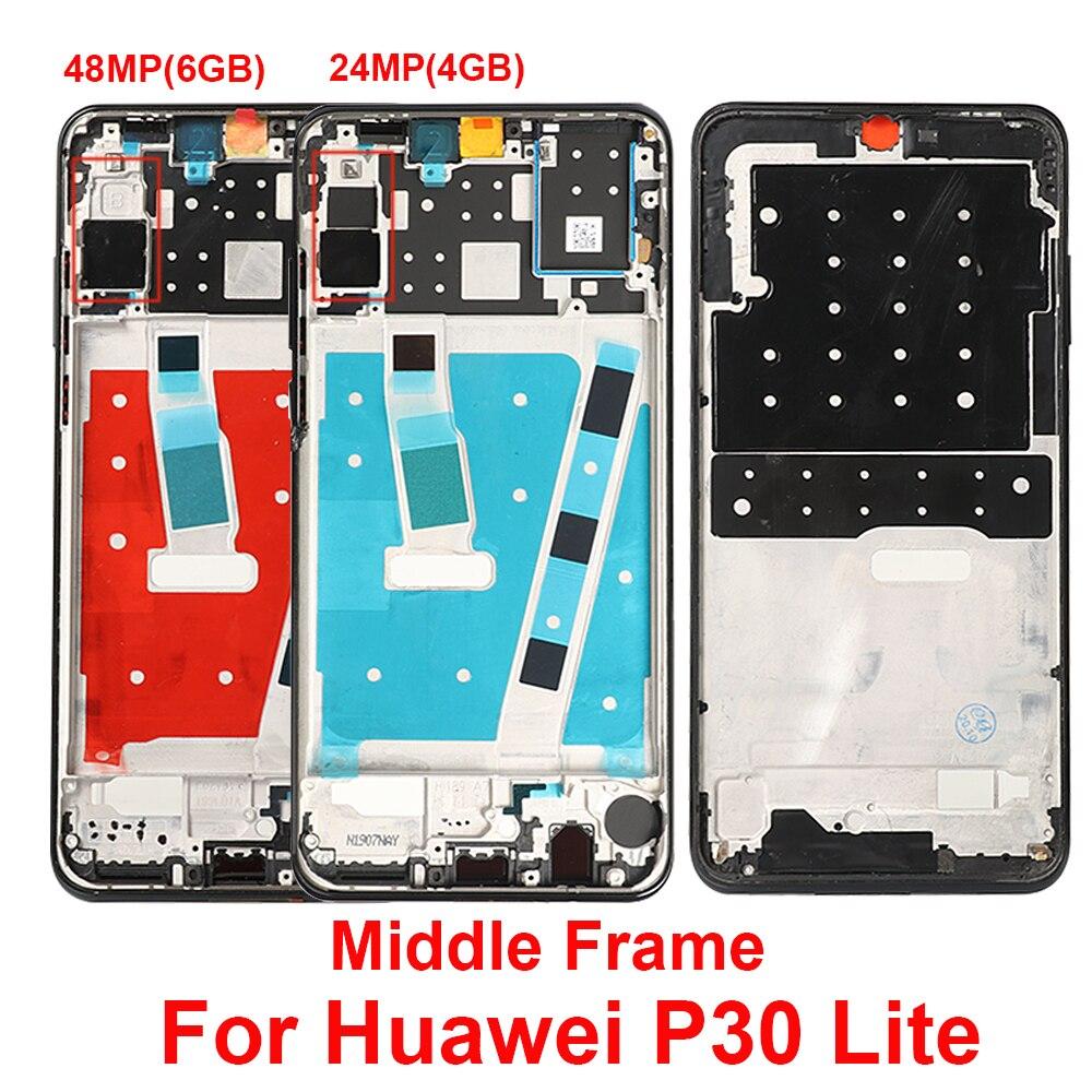 Передняя средняя рамка корпуса для Huawei P30 Lite MAR-LX1 LX2 AL01 средняя рамка для замены для Huawei P30 Lite рамка для ремонта