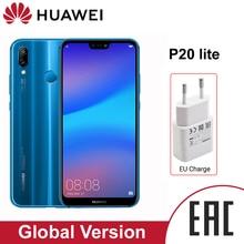 HUAWEI P20 Lite smartphone 4GB 64GB 5,84 zoll AI kamera 3000mAh batterie Android 8.0 Unterstützt NFC