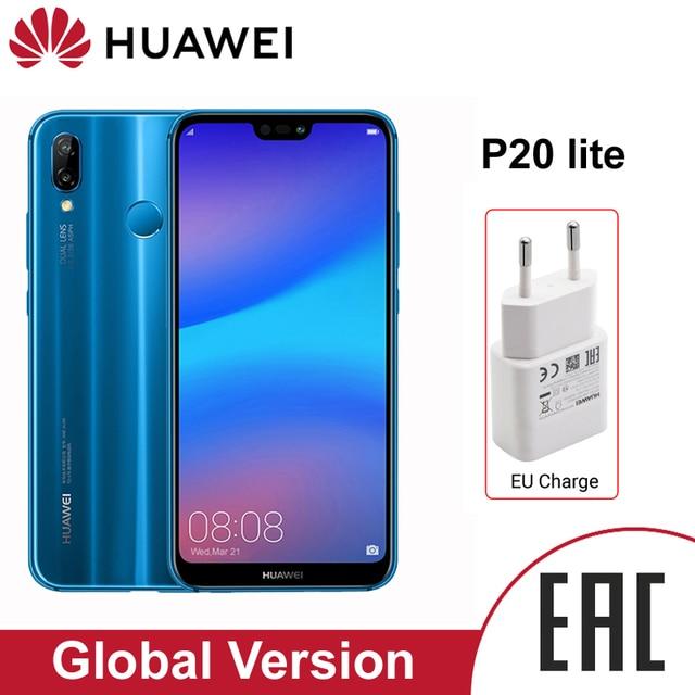 HUAWEI P20 Lite smartphone 4GB 64GB y 5,84 pulgadas que AI Cámara batería de 3000mAh Android 8,0 con NFC