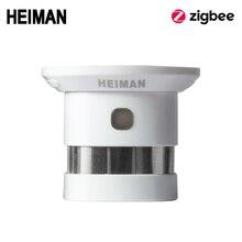 HEIMAN Zigbee пожарная сигнализация детектор дыма система умного дома 2,4 ГГц Высокая чувствительность датчик безопасности предохранения