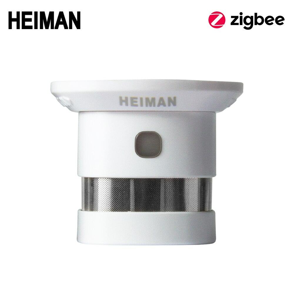 Heiman zigbee detector de fumaça alarme incêndio sistema casa inteligente 2.4 ghz alta sensibilidade segurança prevenção sensor frete grátis