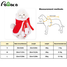 Cute Christmas Pet Clothes dog cat costume halloween coat small dogs windbreaker suit dress new year Santa with hood Pet supplie(China)