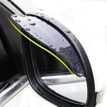 1 par de carro volta espelho sobrancelha capa chuva para volkswagen vw polo tiguan passat b6 b7 b8 t5 t6 golf up vento arteon touareg