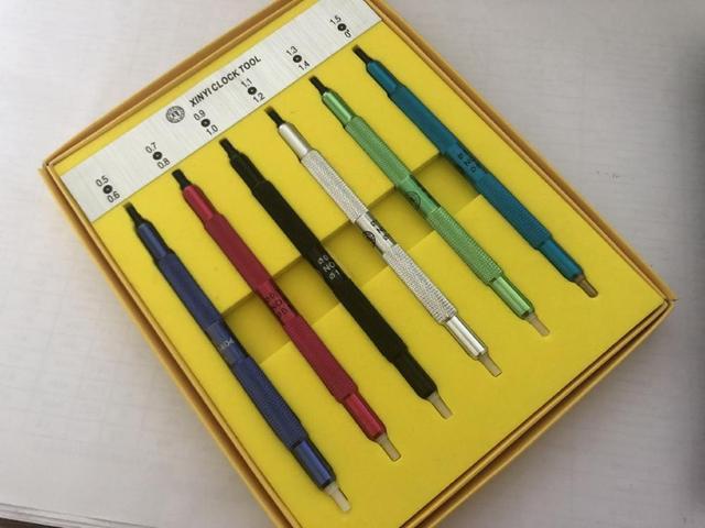משלוח חינם 1 סט שעון יד פרסר הולם כלי שענים תיקונים בציר ידיים לחץ חדש