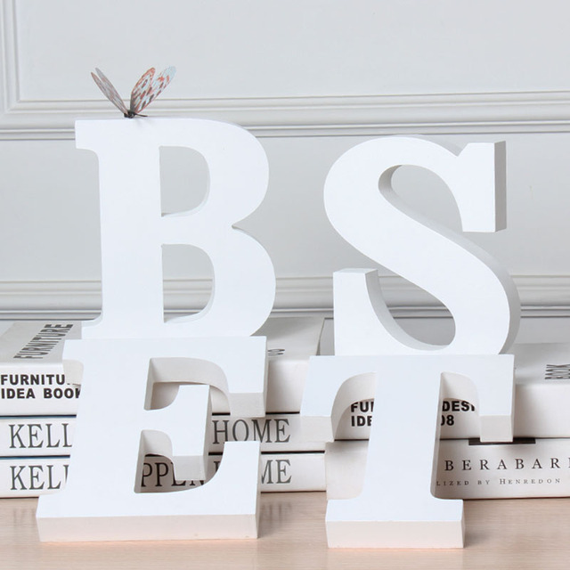 Home Decor Letters Decorative Wooden Letters 3D Letters Wall Letter for Children lamp letters Girls Bedroom Wedding Birthday 1