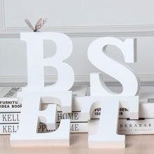 Home Decor litery dekoracyjne drewniane litery 3D litery list ścienny do lampa dla dzieci litery dziewczyny sypialnia ślub urodziny
