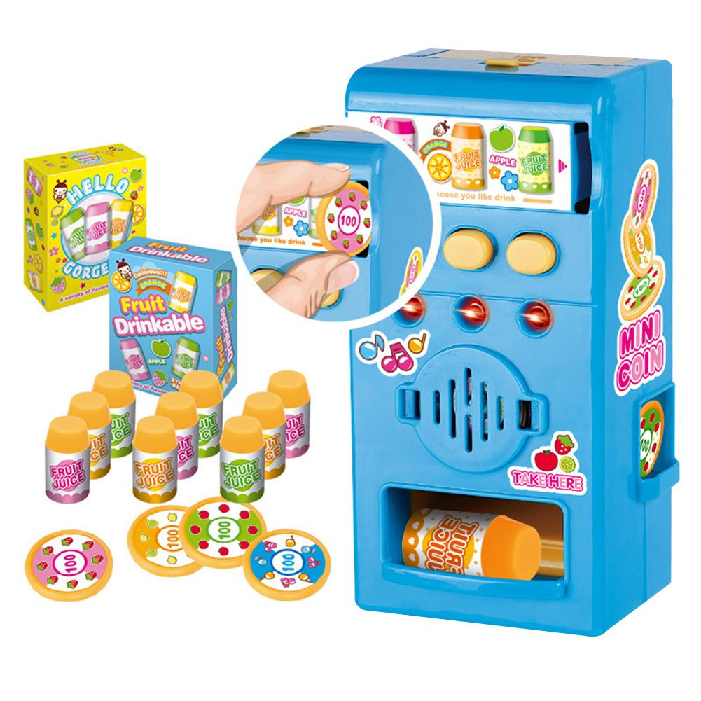 Children Vending Machine Toy Simulated LED Sound Vending Machine Kit Pretend Play Education Toy