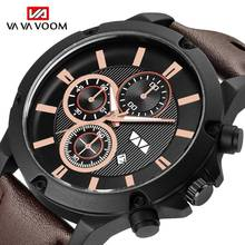 цена на Watches Men Fashion Brand Luxury Men's Quartz Sports Military Wrist Watch Leather Casual Waterproof Clock Male Relogio Masculino