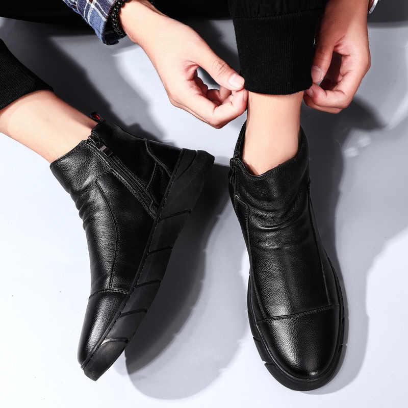 秋冬新メンズブーツ靴カジュアル Bota Ş デ Hombre ファッション高トップ男性 Pu 高品質男性マーティンブーツ