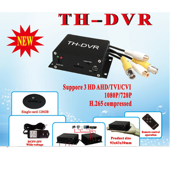 цена на TH-DVR AHD TVI CVI 1080P/720P 128GB Large Storage TF / SD Card Mini DVR H.264 HDMI USB CCTV Camera Video Recorder HC-DVR