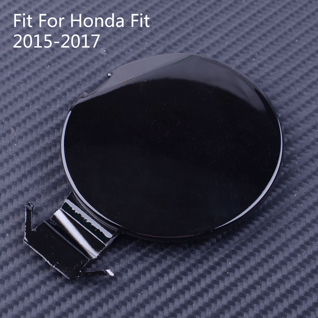 DWCX Black Front Bumper Tow Hook Eye Cover Cap <font><b>Fit</b></font> For <font><b>Honda</b></font> <font><b>Fit</b></font> <font><b>2015</b></font> <font><b>2016</b></font> 2017 image