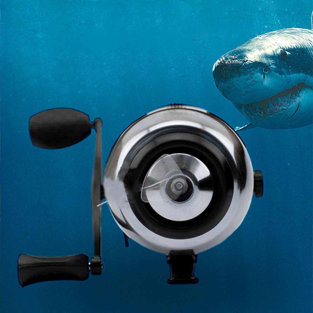 נירוסטה קשת הקלע בליסטרא ציד ירי דיג Spincast סליל 10LB 2.8: 1