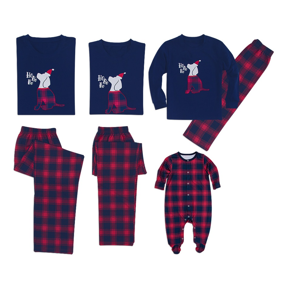 Christmas Family Matching Pajamas Family Cartoon T -shirt Trousers Clothing Sets For Papa Mama Kids Baby Clothing Outfits