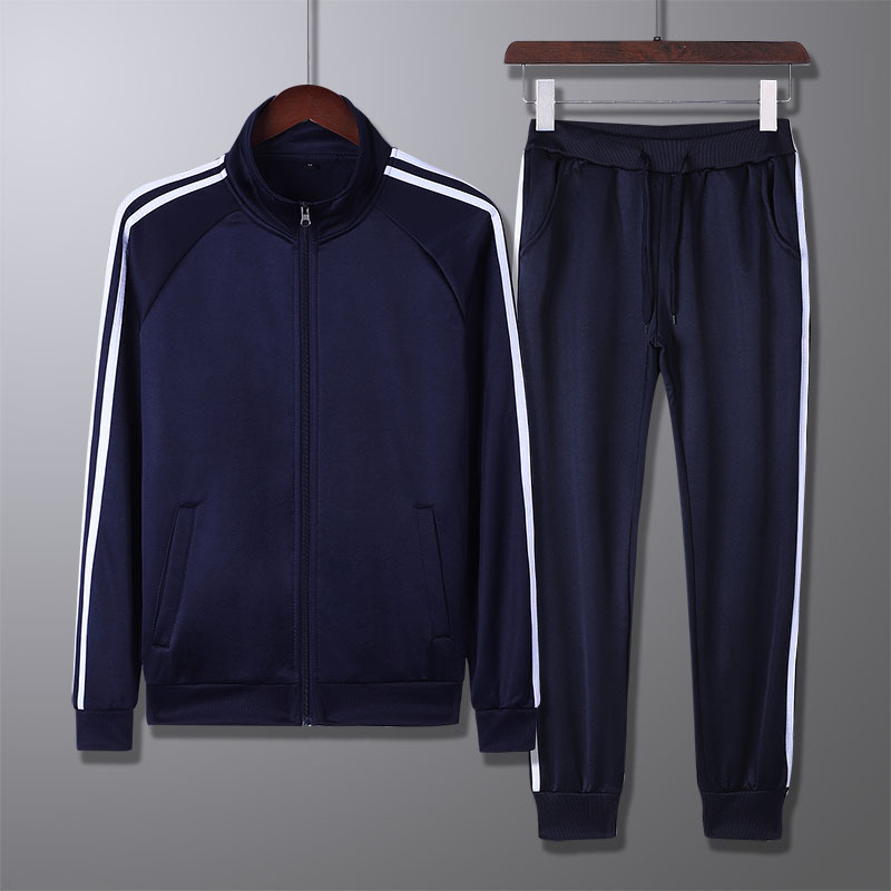 Sports Set Men's Spring And Autumn Two-Piece Casual Couples Set Large Size Athletic Clothing Sportswear MEN'S Suit