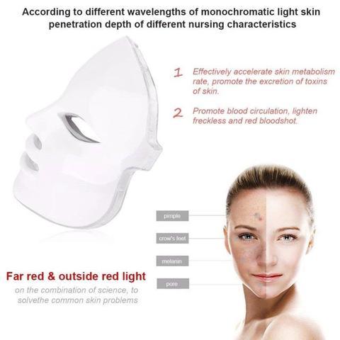 de luz enrugamento acne cuidados com pele mascara led