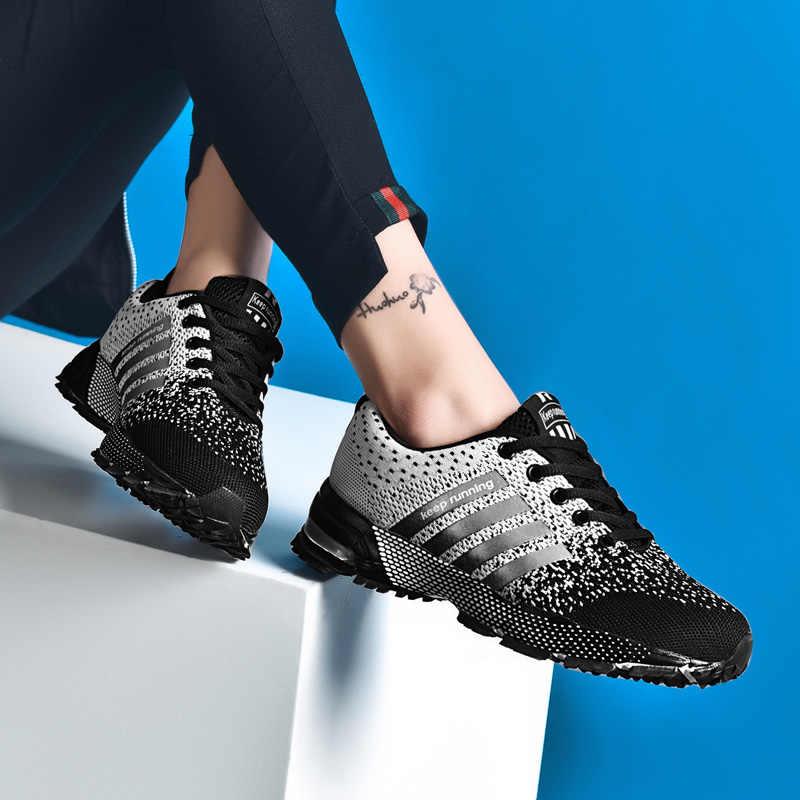 Erkekler spor ayakkabılar 2019 nefes örgü açık erkek koşu ayakkabıları rahat dantel-up erkek ayakkabı ilkbahar sonbahar erkek spor ayakkabı