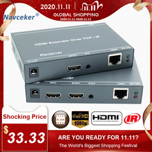 2020 ZY DT209 RJ45 HDMI Extender IP Over UTP/STP CAT5 CAT5e CAT6 Extensor HDMI With IR LAN Network 200m HDMI Extender Ethernet