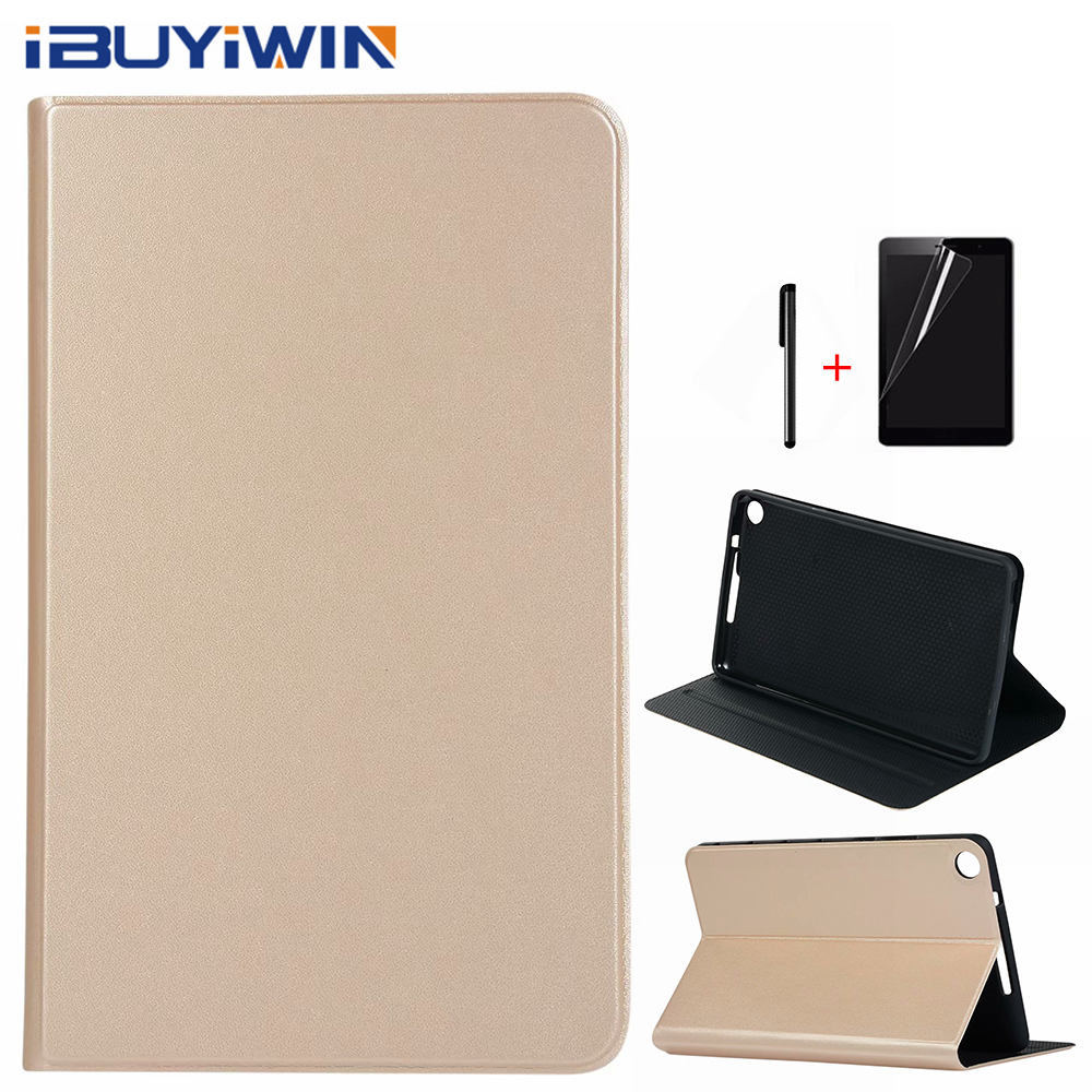 Ultra-slim Premium PU Leather Silicone Cover for Huawei MediaPad M5 Lite 8.0 JDN2-AL00/W09 8.0 Tablet Funda Case+Film+Pen