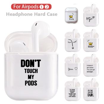 Kryształowe słodkie etui na słuchawki do Apple AirPods etui twarde PC przezroczyste etui ochronne do akcesoriów Airpods etui z funkcją ładowania tanie i dobre opinie Torby 6*5 5*2 5 For apple Airpods 1 2 Z tworzywa sztucznego Transparent High-quality Silicone Celar Wireless Earphone Charging Box Cover Bag