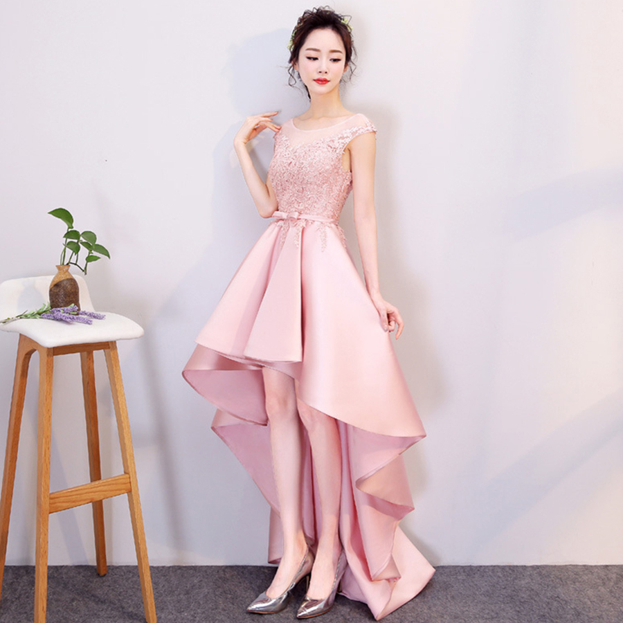 Evening Dress 2019 O-neck Sleeveless Backless Robe De Soiree LX226 New Embroidery Evening Dresses For Women Lace Up Formal Gown