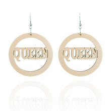 Exaggerated fashion laser engraving log color earrings ms national wind restoring ancient ways
