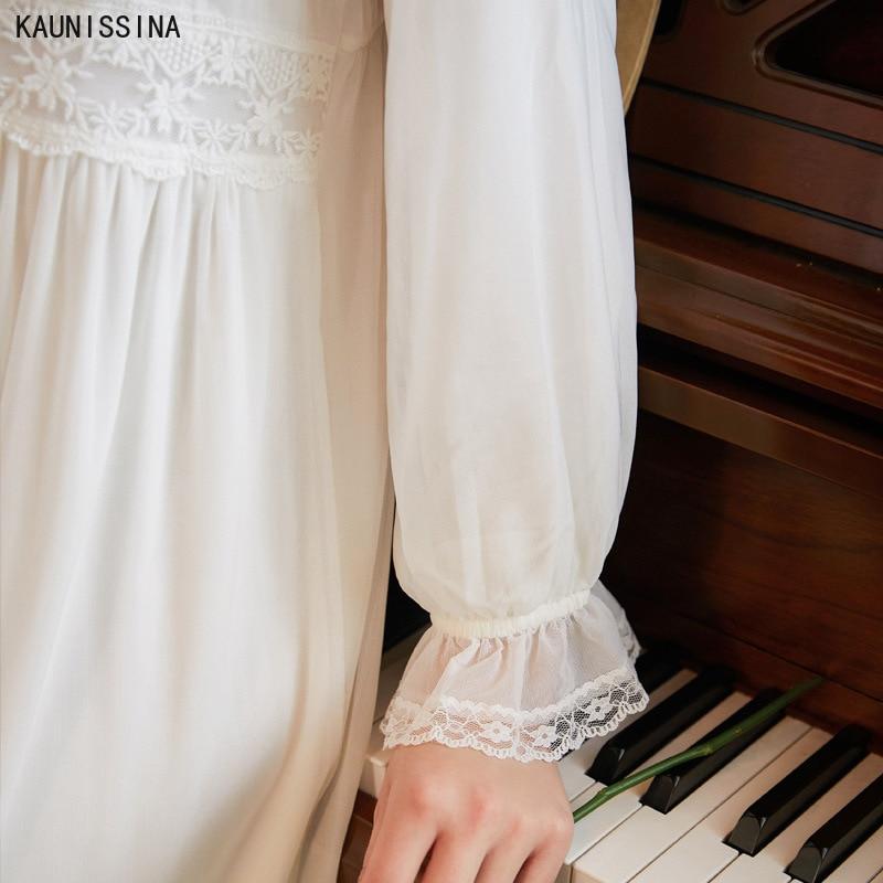 Купить женская винтажная ночная рубашка из хлопка и модала в викторианском