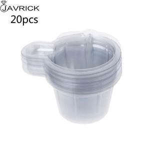 20/100 шт 40 мл пластиковый одноразовый диспенсер для чашек для самостоятельного изготовления ювелирных изделий из эпоксидной смолы