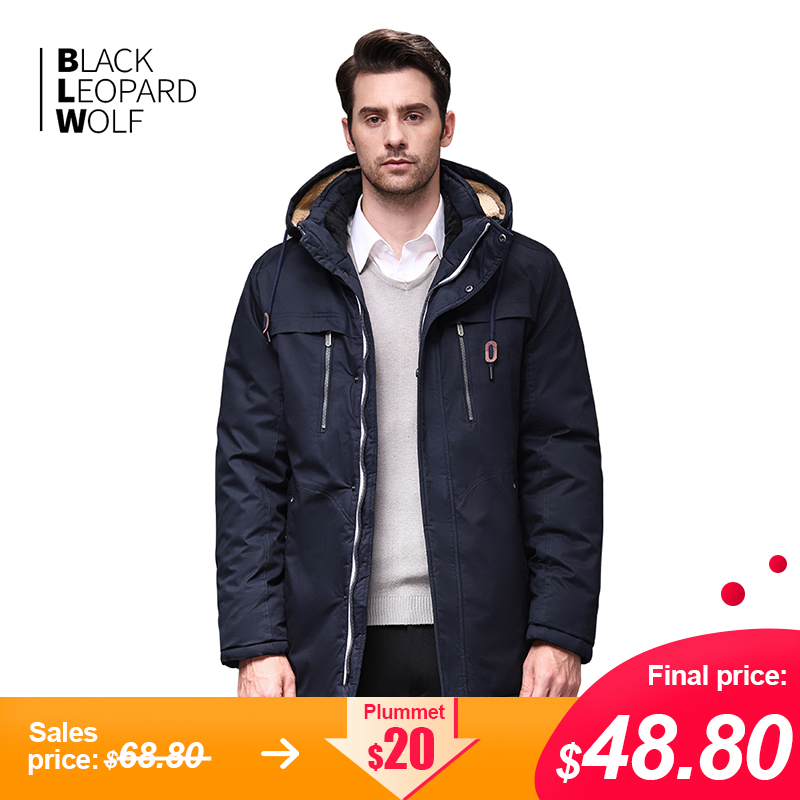 Blackleopardwolf 2019 Winter Jacket Men Fashion Coat Thik Parka Men Alaska Detachable Outwear With Comfortable Cuffs BL-6605