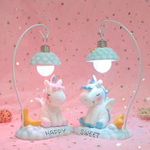 Unicorn Night Light for Children Kid Girl Boy Bedroom Bedside Table Lamp Cute Cartoon LED Night Lighting Decoration Bedside Lamp