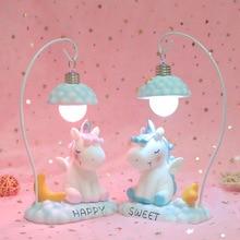 Unicorn Night Light for Children Kid Girl Boy Bedroom Bedside Table Lamp Cute Cartoon LED Night Lighting Decoration Bedside Lamp