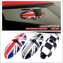 Espelho retrovisor do carro caso capa adesivo decoração do carro-estilo para bmw mini cooper jcw s um + r55 r56 r57 r58 r59 r60 r61 countryman
