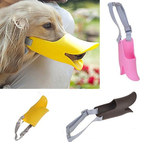 Pet Dog 3D Muzzle Duck Face Lip Mouth Guard Protection Anti-barking Dog Mask Bite Bark Prevent Stopper Dog Training Equipment