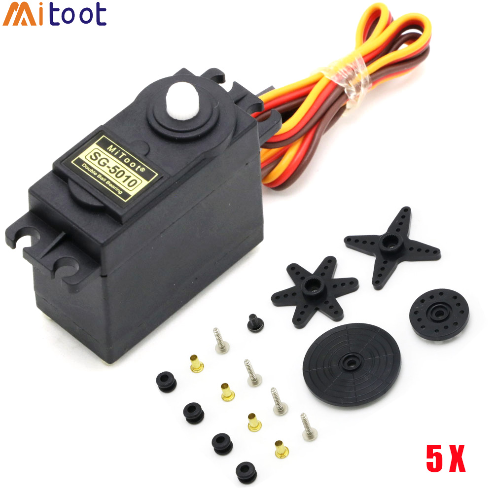 5set/lot Mitoot High Torque Motors SG5010 Servos Metal Gear Apply For RC Racing Car Robot Helicopter And Ships