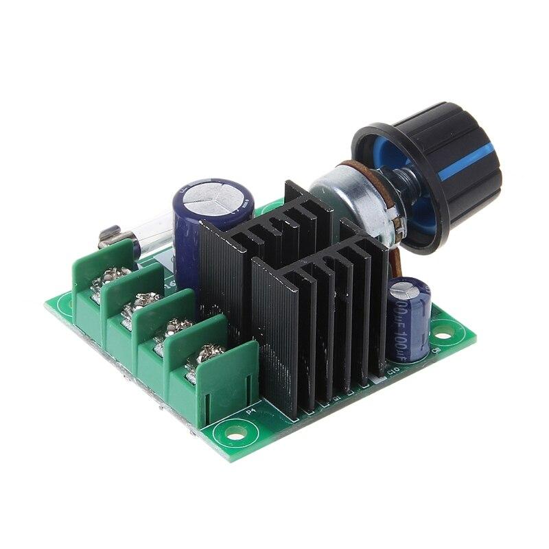 Dc 9v 50v 10a ШИМ контроллер скорости двигателя постоянного