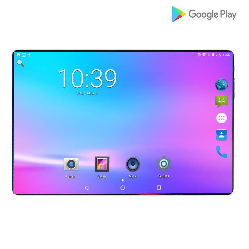 LTE 4G Fixed Android 9.0 With 4G SIM Network Video Phone Tablets 10 Inch 6000mAh Octa Core 6GB RAM 64GB ROM 1280x800 IPS Screen