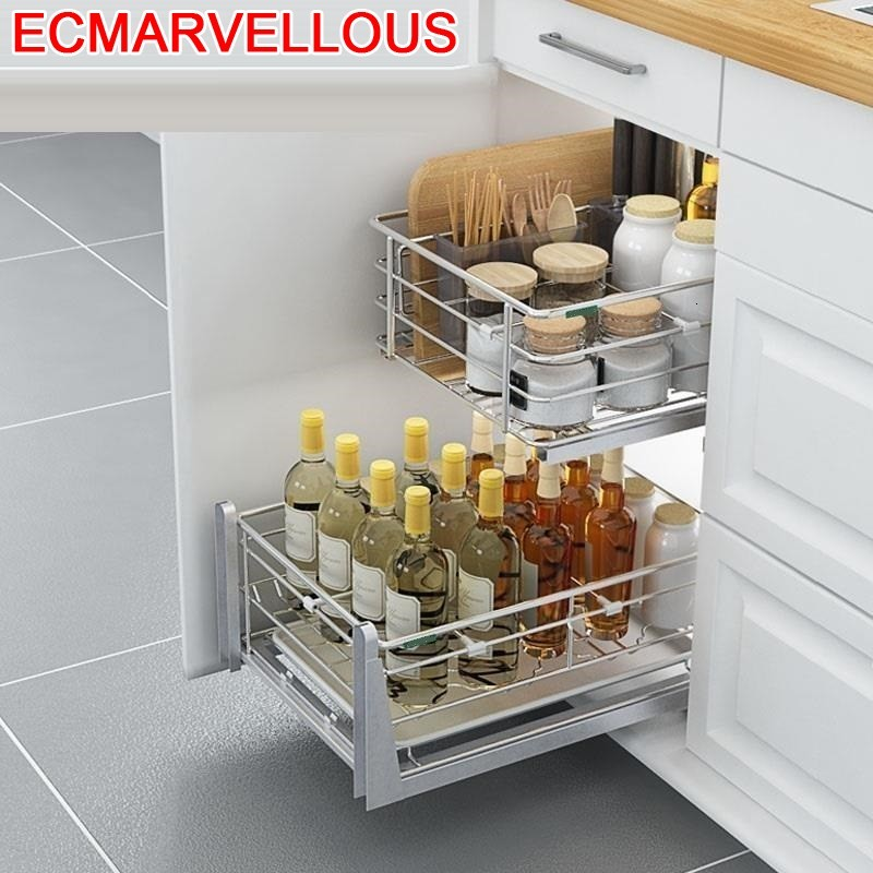 De Cocina Despensa Drawer For Dish Drainer Mutfak Stainless Steel Organizer Cozinha Cuisine Kitchen Cabinet Storage Basket