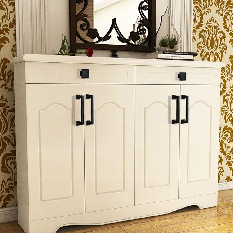 Купить с кэшбэком AOBT Modern Black Kitchen Cabinet Handles Closet Brass Wardrobe Handles Cabinet Door Drawer American Handles Knobs Hardware 6087
