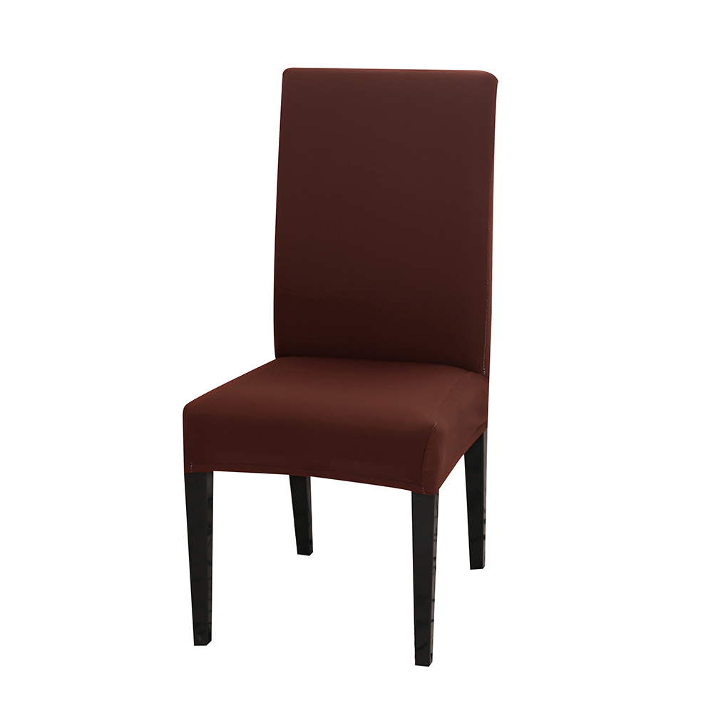 Solid Color Chair Cover of Spandex Material with Elastic for Dining Room and Wedding Hall 16