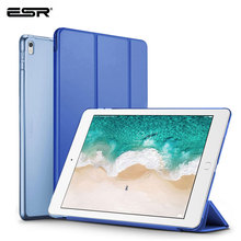 ESR Чехол для iPad Pro, 12,9, 2017, 2 го поколения, Сверхтонкая задняя крышка из искусственной кожи, тройной складной умный чехол для iPad Pro, 12,9 дюйма, чехол