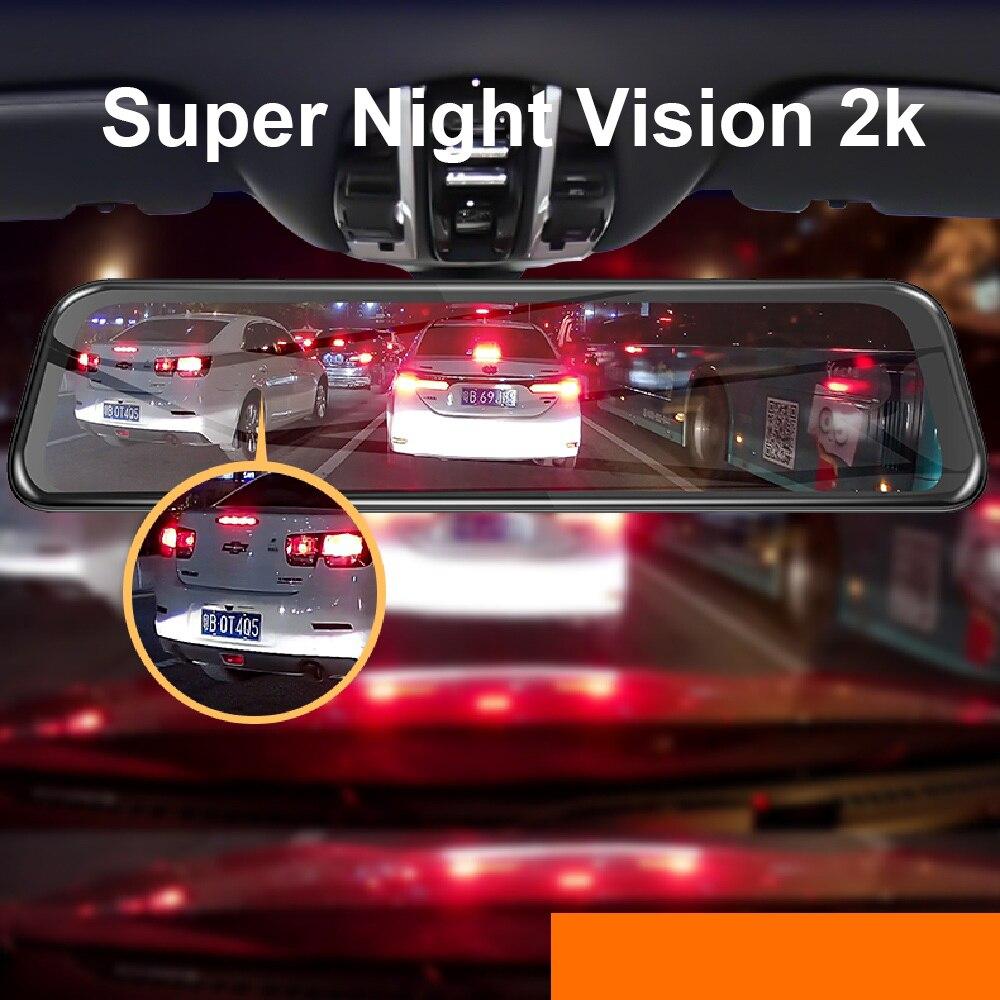 1440P Автомобильное зеркало заднего вида, Автомобильное видео зеркало FHD 12 '', авто рекордер, супер ночное видение, Автомобильный видеорегистратор, зеркало заднего вида, тире камера - 2