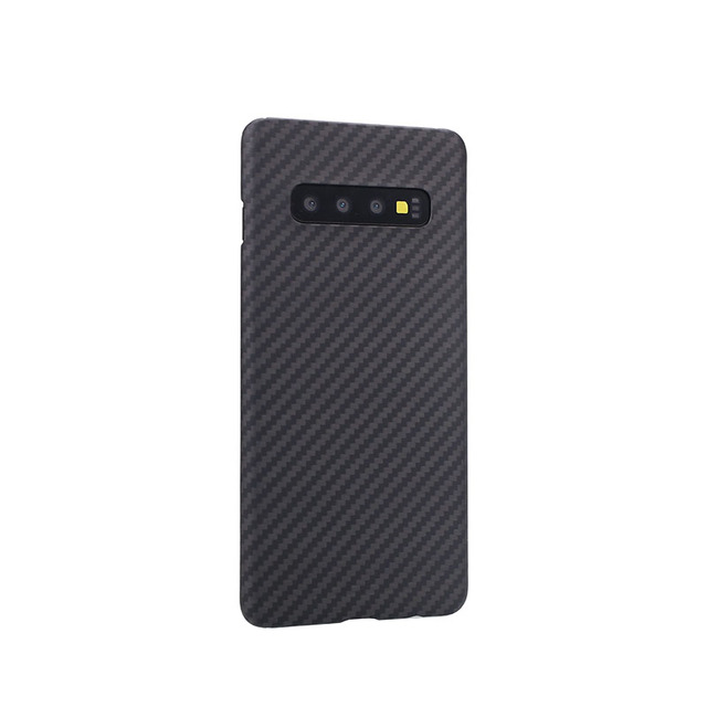 Kevlar Aramid Fiberคาร์บอนไฟเบอร์สำหรับSamsung Galaxy S10 S 10 Plus Trueคาร์บอนไฟเบอร์ทั้งหมดรวมMatte shell