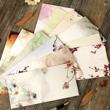 JIANWU 12 pçs/set estilo chinês Tradicional clássico Branco envelope kraft envelope Retro flores
