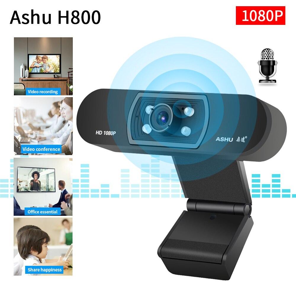 USB веб камера TISHRIC Ashu H800, 1080P HD USB камера для компьютера, веб камера для ПК, камера с микрофоном, веб камера Full HD, видео веб камера|Веб-камеры|   | АлиЭкспресс