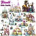 All Girls Series Compatible Legoinglys Princess Castle Building Blocks Friends for Girls Bricks Figures Toys for Children Gifts