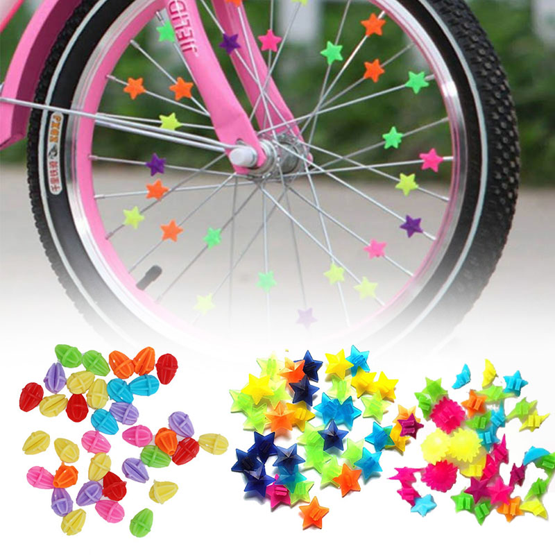 New 36 pcs Wheel Spoke Colorful Star Decoration Reflector Cycling Bicycle Bike